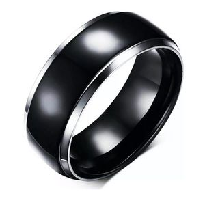 Men 8mm Titanium Ring Band Stainless Steel Gothic
